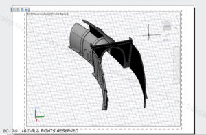 Rendering 3D del portale
