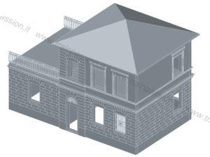 Il rendering 3D del modello
