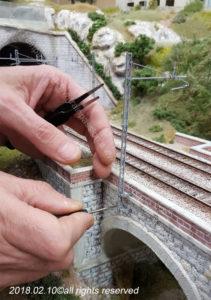 Installazione dei pali LS sul ponte