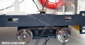 Motore fissato al telaio