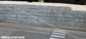 Muro di contenimento con gabbioni