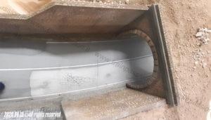 Dettaglio dell'imbocco del tunnel