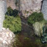Un corso d'acqua con resina Prochima