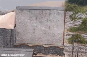 Posizionamento del blocco in spritz beton