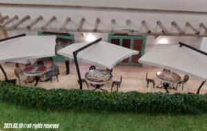 Arredamento esterno del ristorante